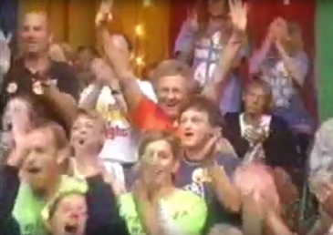 I'm in the upper left clapping, next to Scott.